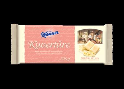 Manner Kuvertüre weiße schokolade 200g