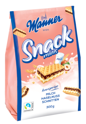 Manner Snack Minis Milk-Hazelnut 300g
