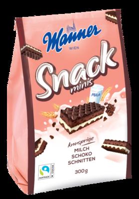 Manner Snack Minis Milk-Choclate 300g