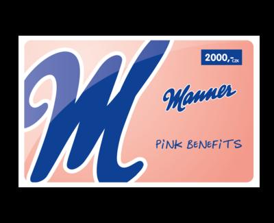 Manner dárková karta v hodnotě 2000,- Kč